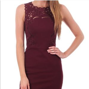 Ted Baker Maroon Verita Bodycon Dress size Ted 1